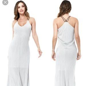 Lovestitch rue striped maxi dress